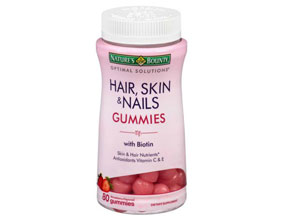 Nature's Bounty Optimal Solutions Hair, Skin & Nails Gummies, 80 count